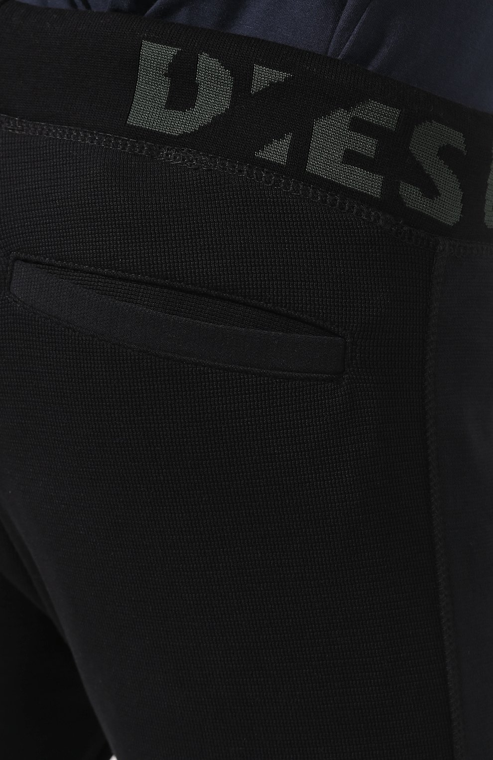 Хлопковые джоггеры  Diesel черные | Фото №5