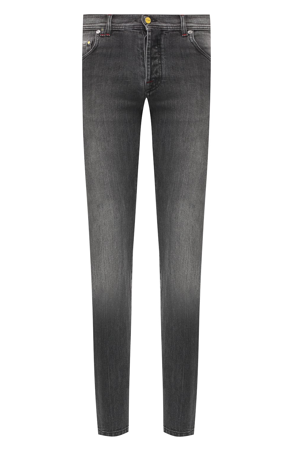 Мужские джинсы прямого кроя KITON серого цвета, арт. UPNJS/J07R53 | Фото 1