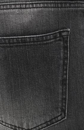 Джинсы прямого кроя Kiton серые | Фото №5