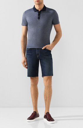 Мужские кожаные кеды H`D`S`N BARACCO бордового цвета, арт. BRYAN.5* | Фото 2
