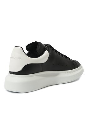 Мужские кожаные кеды ALEXANDER MCQUEEN черного цвета, арт. 553680/WHGP5 | Фото 5