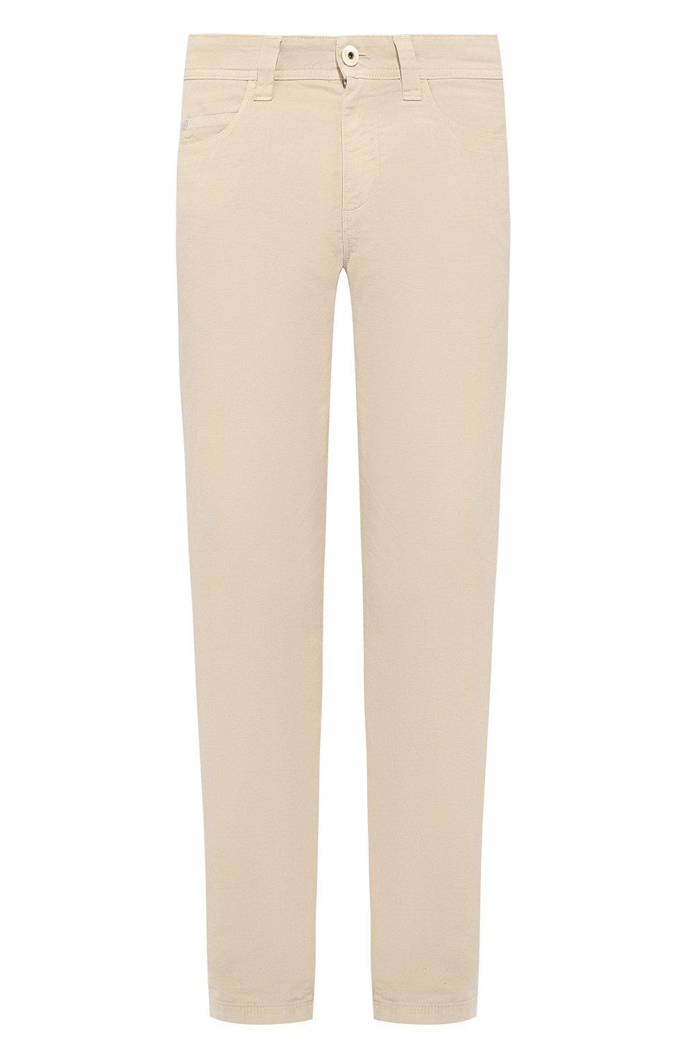 Мужские джинсы LORO PIANA светло-бежевого цвета, арт. FAG1317   Фото 1