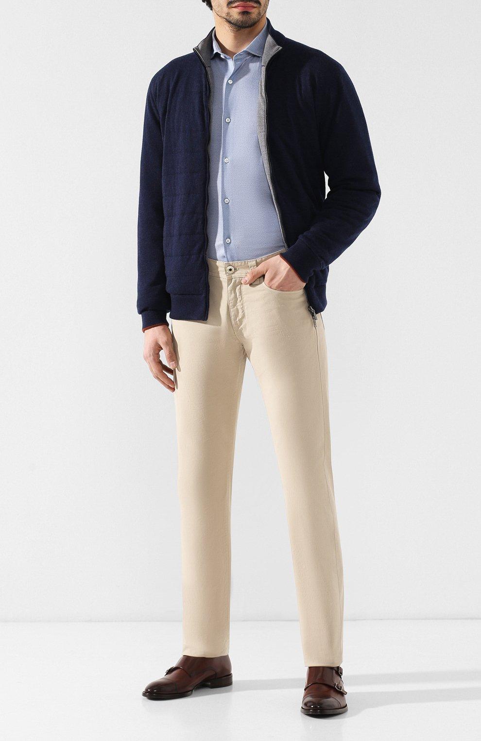 Мужские джинсы LORO PIANA светло-бежевого цвета, арт. FAG1317   Фото 2
