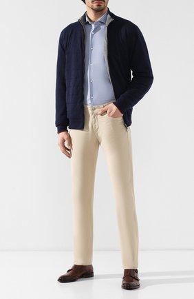 Мужские джинсы LORO PIANA светло-бежевого цвета, арт. FAG1317 | Фото 2