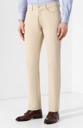 Мужские джинсы LORO PIANA светло-бежевого цвета, арт. FAG1317   Фото 3