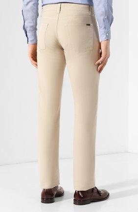 Мужские джинсы LORO PIANA светло-бежевого цвета, арт. FAG1317   Фото 4