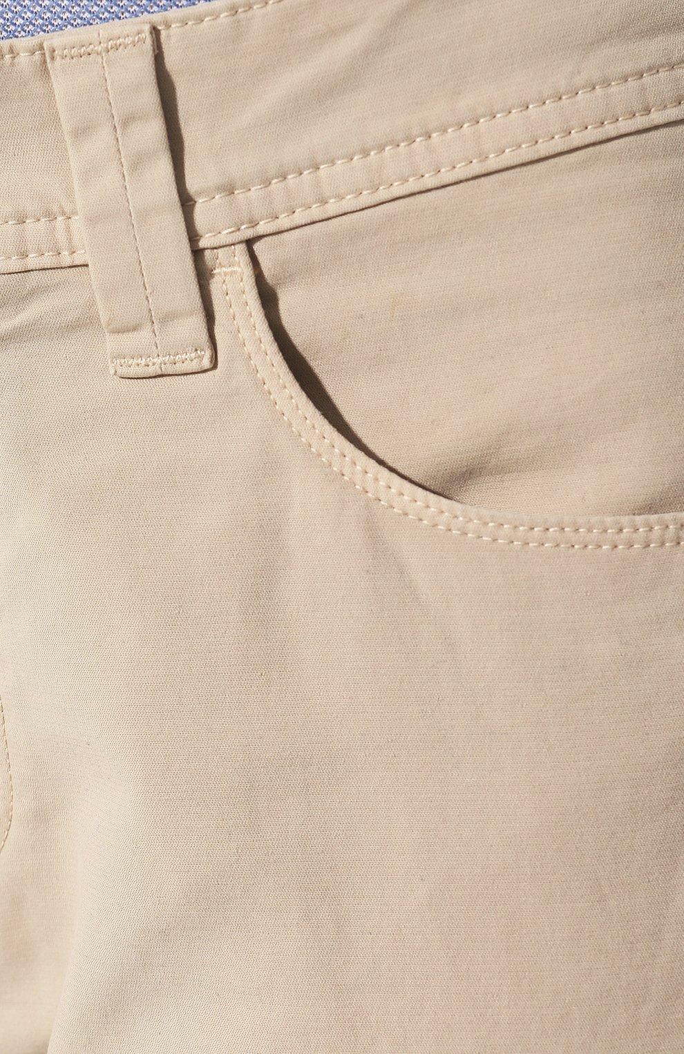 Мужские джинсы LORO PIANA светло-бежевого цвета, арт. FAG1317   Фото 5