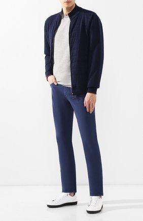 Мужские джинсы LORO PIANA темно-синего цвета, арт. FAG1317 | Фото 2