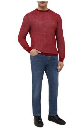 Мужской джемпер из шерсти и кашемира LORO PIANA красного цвета, арт. FAI0361 | Фото 2