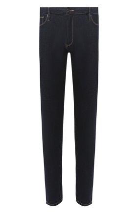 Мужские джинсы прямого кроя EMPORIO ARMANI темно-синего цвета, арт. 8N1J06/1DLPZ | Фото 1