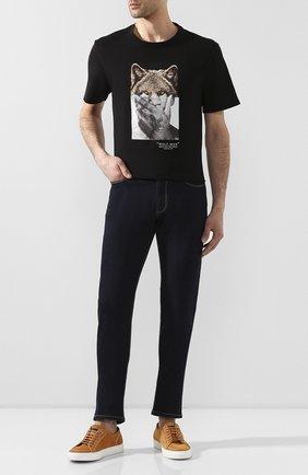 Мужские джинсы прямого кроя EMPORIO ARMANI темно-синего цвета, арт. 8N1J06/1DLPZ | Фото 2