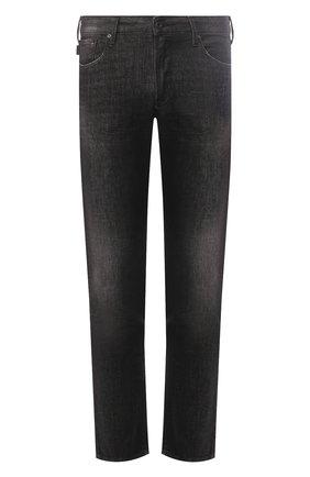Мужские джинсы прямого кроя EMPORIO ARMANI серого цвета, арт. 8N1J06/1DT5Z | Фото 1