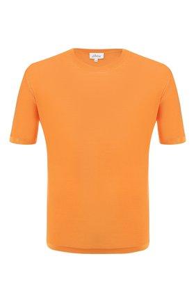 Мужская шелковая футболка BRIONI оранжевого цвета, арт. UMR00L/P8K08 | Фото 1
