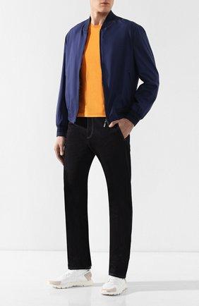 Мужская шелковая футболка BRIONI оранжевого цвета, арт. UMR00L/P8K08 | Фото 2