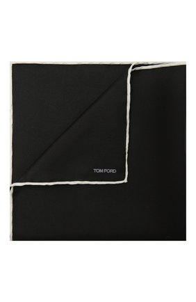 Мужской шелковый платок TOM FORD черного цвета, арт. TFZ90/TF312 | Фото 1