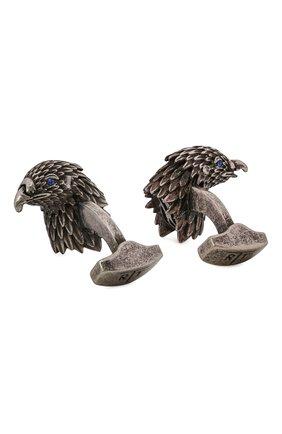 Мужские запонки TATEOSSIAN серебряного цвета, арт. CL7717 | Фото 2