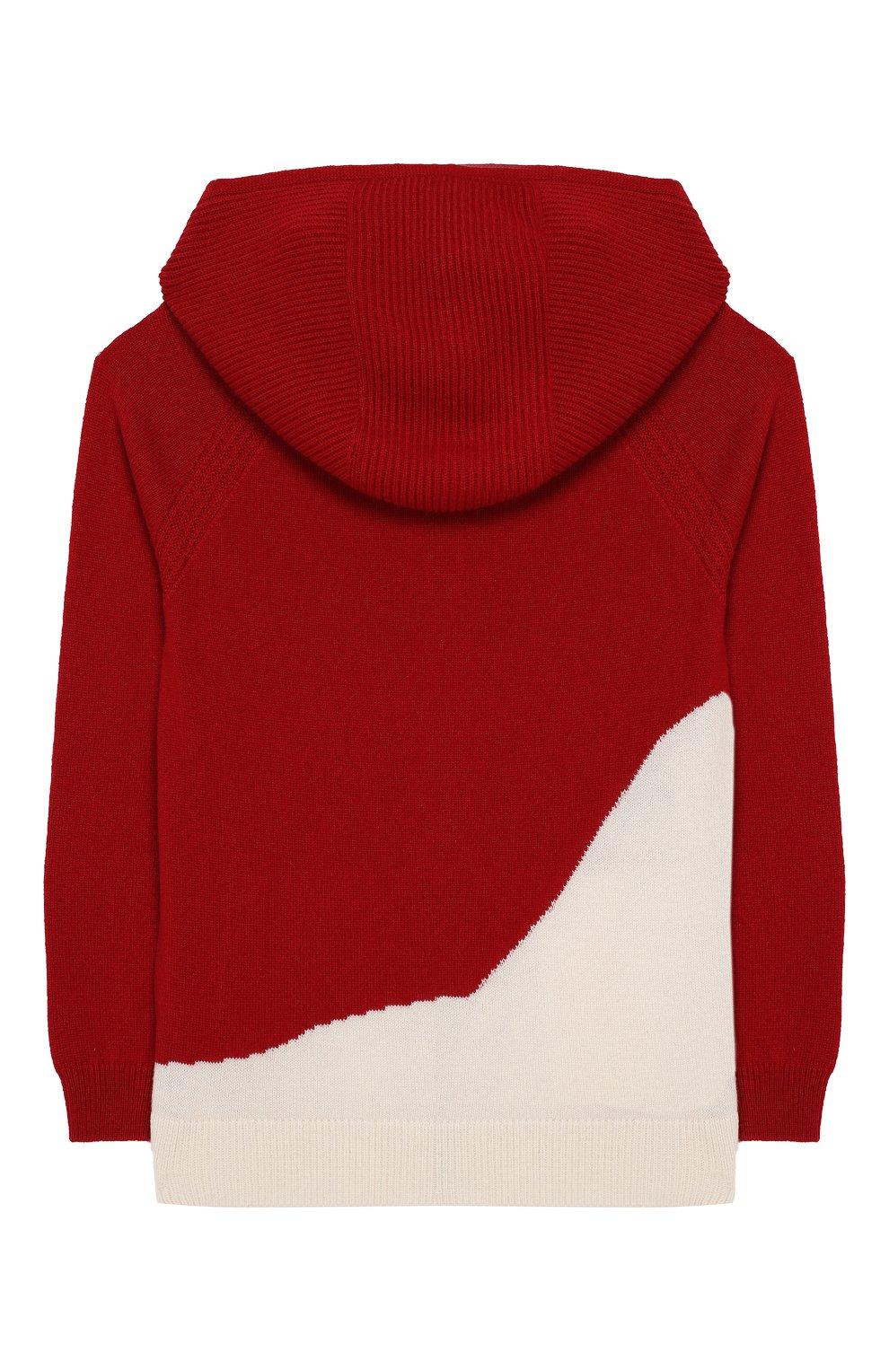 Кашемировый кардиган с капюшоном Loro Piana красного цвета | Фото №2