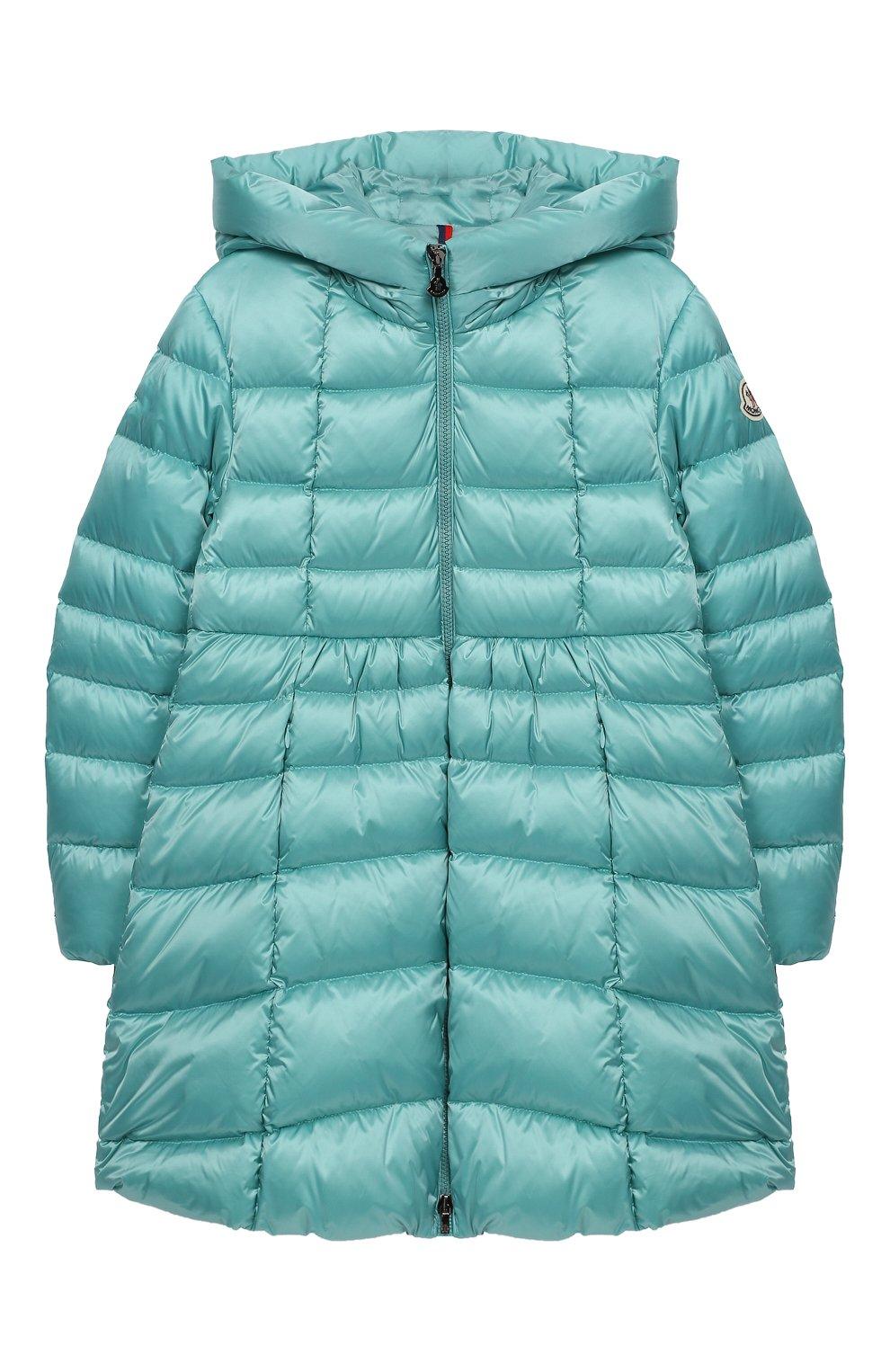 Пуховое пальто с капюшоном | Фото №1