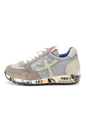 Детские кроссовки с застежками велькро PREMIATA WILL BE серого цвета, арт. MICK/0761/T0D   Фото 2