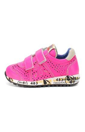Детские кожаные кроссовки с застежками велькро PREMIATA WILL BE фуксия цвета, арт. LUCY V/1105/T0D | Фото 2