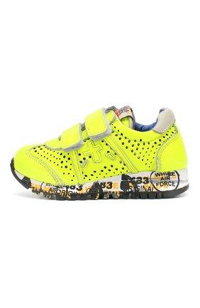 Детские кожаные кроссовки с застежками велькро PREMIATA WILL BE желтого цвета, арт. LUCY V/1104/T0D | Фото 2