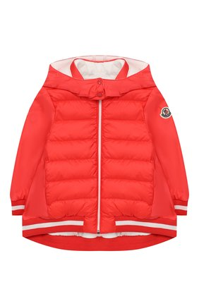 Детского пальто с капюшоном MONCLER ENFANT красного цвета, арт. E1-951-46888-85-54155 | Фото 1