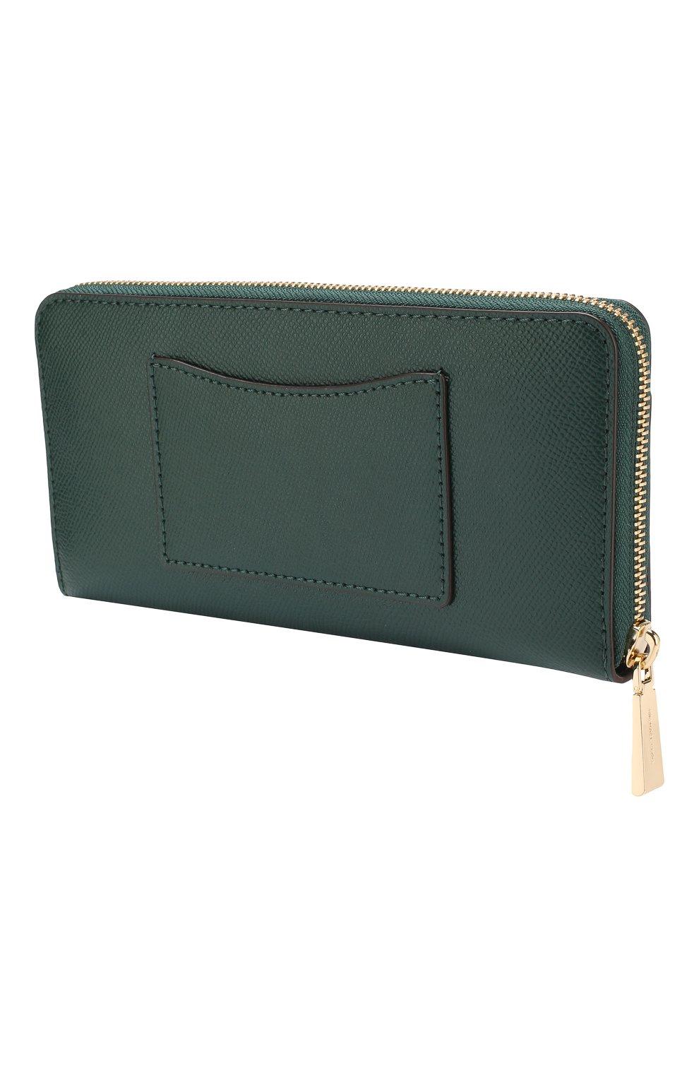 c9c46289ff14 Кожаный кошелек на молнии MICHAEL Michael Kors зеленого цвета | Фото №2