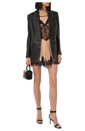 Женские кожаные босоножки portofino 85 GIANVITO ROSSI черного цвета, арт. G60953.85RIC.NAPNER0 | Фото 2