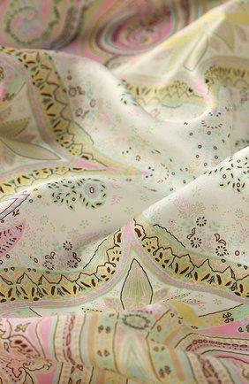 Женский шелковый платок MICHELE BINDA кораллового цвета, арт. 21528131 | Фото 2