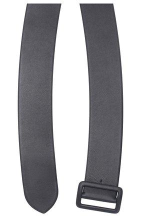 Кожаный пояс Ralph Lauren синий | Фото №2