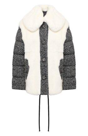 Женская меховая куртка DOLCE & GABBANA белого цвета, арт. I2049Z/FUPLH | Фото 1