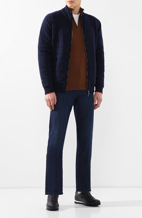 Мужские джинсы прямого кроя ZILLI темно-синего цвета, арт. MCR-00052-DEUL1/R001 | Фото 2