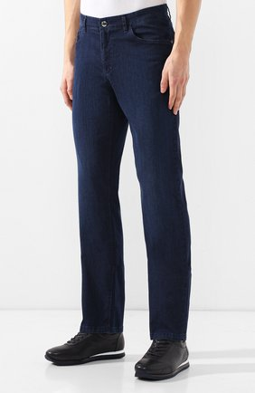 Мужские джинсы прямого кроя ZILLI темно-синего цвета, арт. MCR-00052-DEUL1/R001 | Фото 3