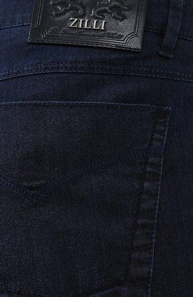 Мужские джинсы прямого кроя ZILLI темно-синего цвета, арт. MCR-00052-DEUL1/R001 | Фото 5
