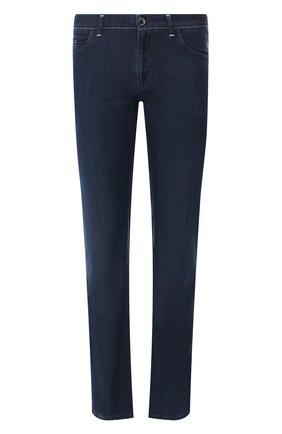 Мужские джинсы прямого кроя ZILLI темно-синего цвета, арт. MCR-00051-DEUL1/R001 | Фото 1