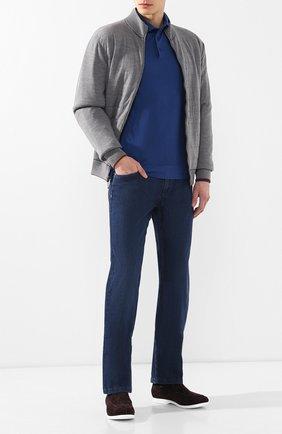Мужские джинсы прямого кроя ZILLI темно-синего цвета, арт. MCR-00051-DEUL1/R001 | Фото 2