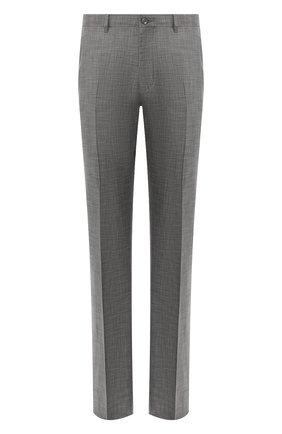 Мужской брюки из смеси шерсти и шелка ZILLI серого цвета, арт. M0R-40-38N-36139/0001 | Фото 1