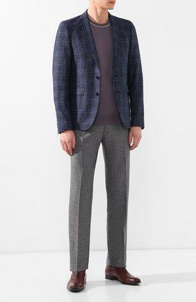 Мужской брюки из смеси шерсти и шелка ZILLI серого цвета, арт. M0R-40-38N-36139/0001 | Фото 2