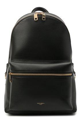 Мужской кожаный рюкзак office DOLCE & GABBANA черного цвета, арт. BM1616/AC954 | Фото 1