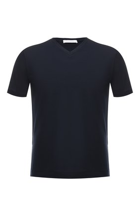 Мужская хлопковая футболка CRUCIANI темно-синего цвета, арт. CUJ0SB.V30 | Фото 1