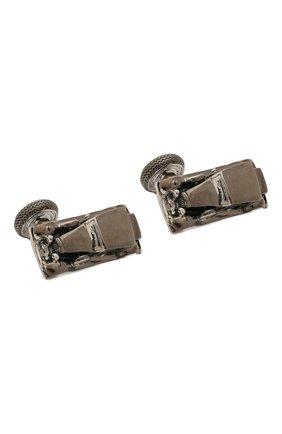 Мужские запонки TATEOSSIAN серого цвета, арт. CL7185 | Фото 1