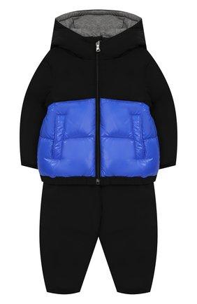 Детский комплект из пухового комбинезона и куртки MONCLER ENFANT синего цвета, арт. D2-951-70345-85-54543 | Фото 1