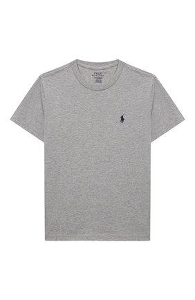 Детская хлопковая футболка POLO RALPH LAUREN серого цвета, арт. 323674984   Фото 1