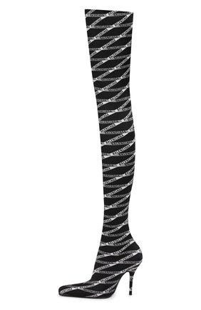 Текстильные ботфорты Round | Фото №3
