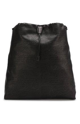 Мужская кожаная сумка-шопер BERLUTI черного цвета, арт. M170372 | Фото 1