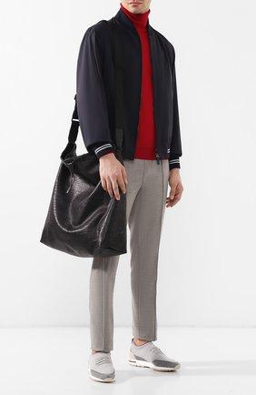 Мужская кожаная сумка-шопер BERLUTI черного цвета, арт. M170372 | Фото 2