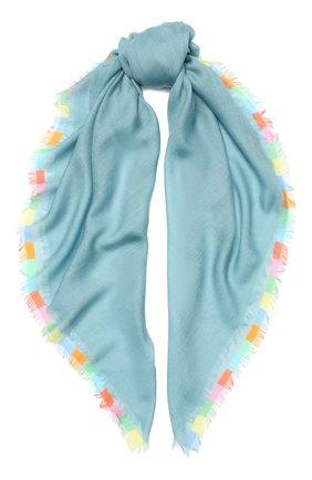 Женский кашемировый платок harlequin LORO PIANA бирюзового цвета, арт. FAI4694 | Фото 1