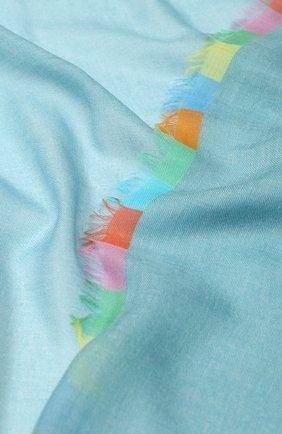 Женский кашемировый платок harlequin LORO PIANA бирюзового цвета, арт. FAI4694 | Фото 2