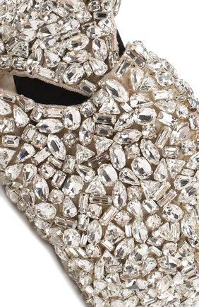 Ободок с отделкой кристаллами Dolce & Gabbana серебряного цвета | Фото №3
