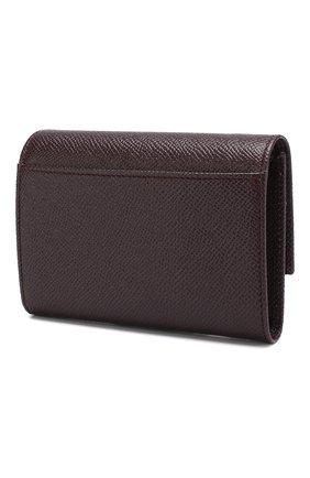Женские кожаный кошелек DOLCE & GABBANA бордового цвета, арт. BI0924/A1001 | Фото 2